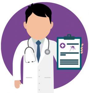 Consulte al médico antes de ser un viajero a un país con malaria